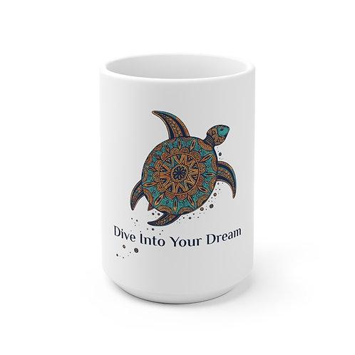 "Ceramic Mug ""Dive into Your Dream"" (small and big sizes)"