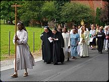 abbaye de marededret | procession 15 août | Assomption | belgique | namur
