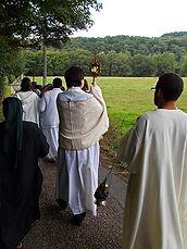 abbaye de marededret | procession 15 août | belgique | namur