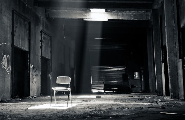 Abandoned room with chair