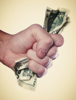 fist holding money
