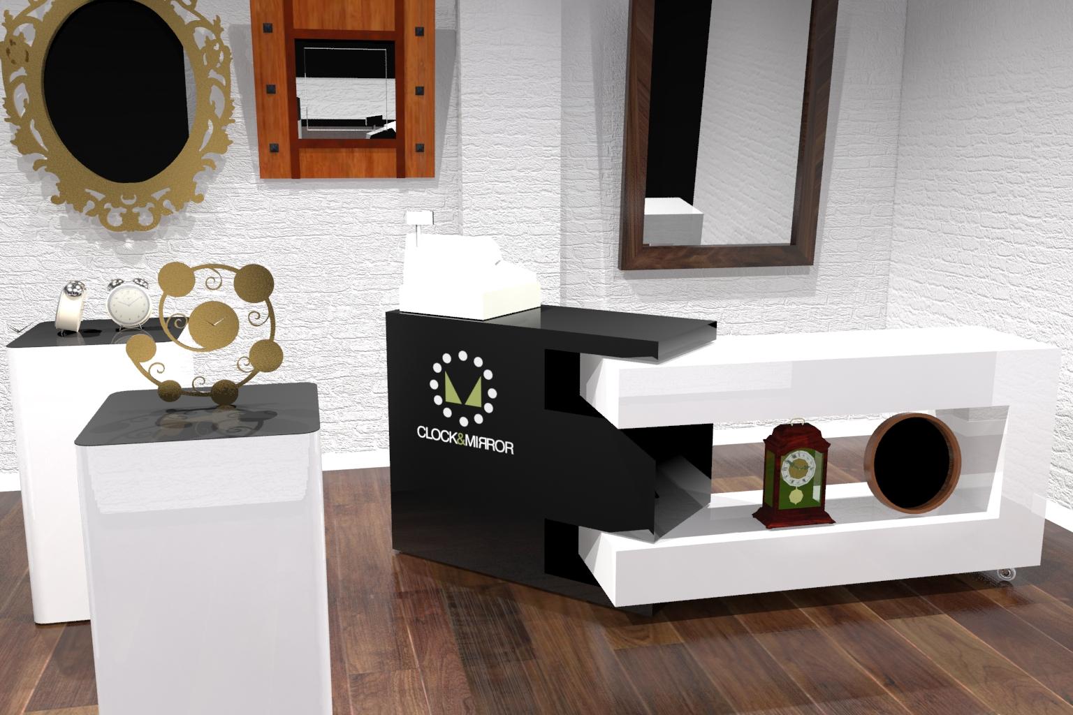 Sports frame counter+plinths