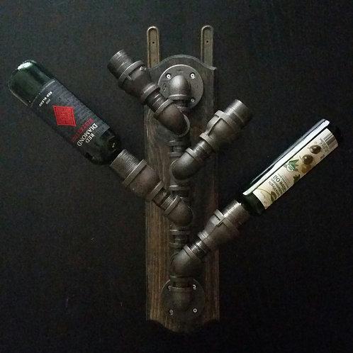 Steampunk wine holder