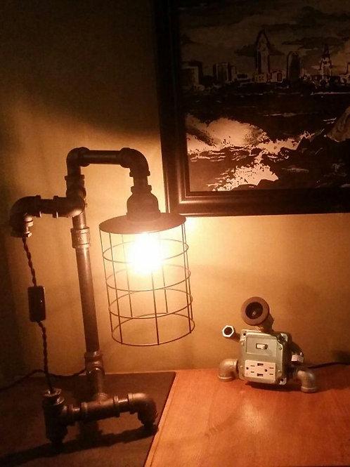 Steampunk black iron birdcage light