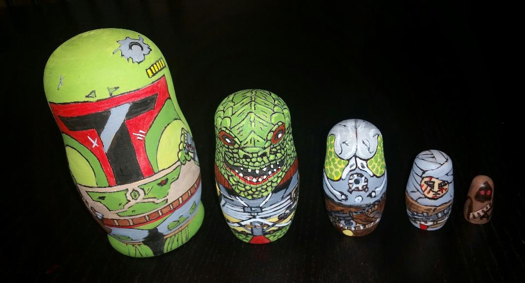 Bounty hunter custom nesting doll