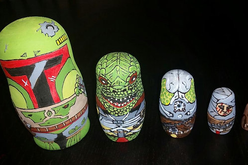 Star wars Bounty hunter nesting dolls