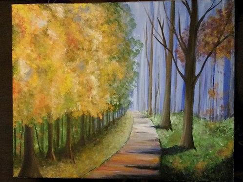 Forest acrylic scene