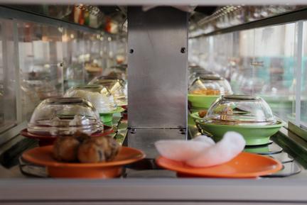 Running Suhi in Graz im China Restaurant Eat-Asia