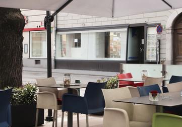 Gastgarten von China Restaurant für all you can eat Buffet und Running Sushi in Graz