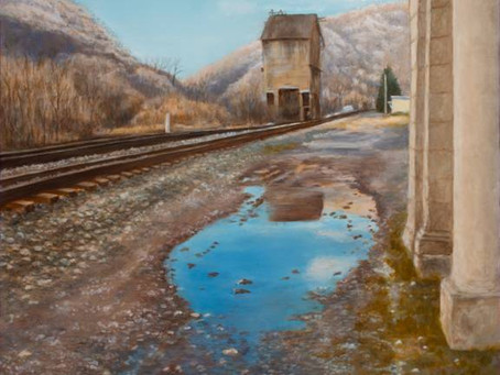 Railtown Reflection ~ the story behind the painting