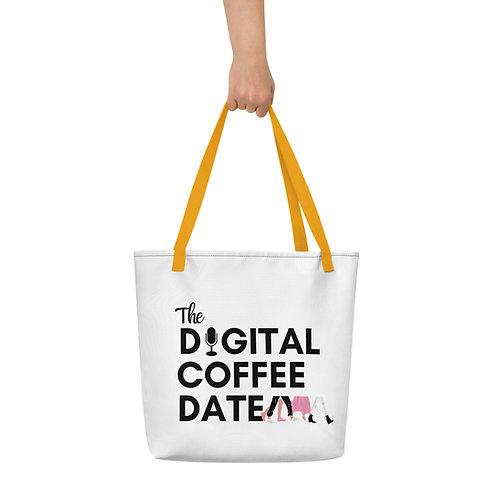 The Digital Coffee Date Beach Bag