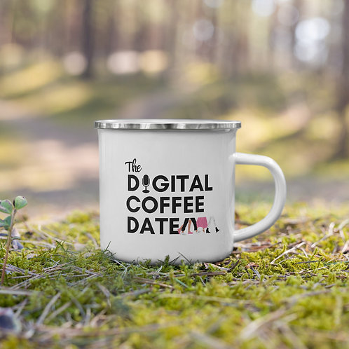 The Digital Coffee Date Enamel Mug