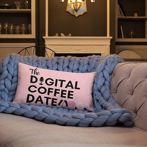 The Digital Coffee Date Pink Premium Pillow