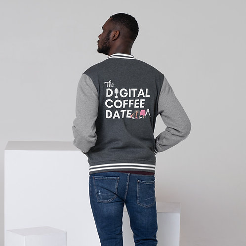 The Digital Coffee Date Men's Letterman Jacket