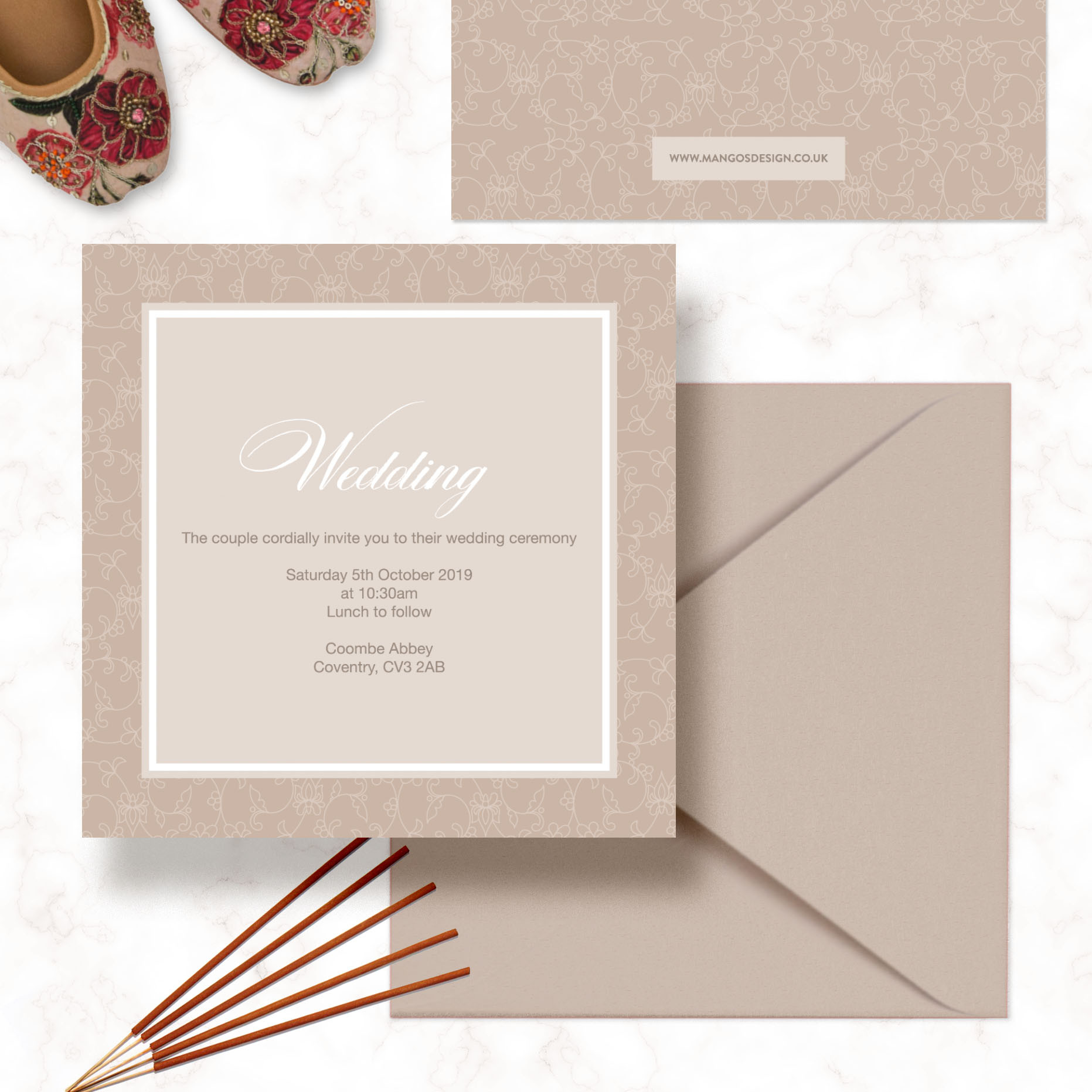 Minimal Square Wedding Invitations