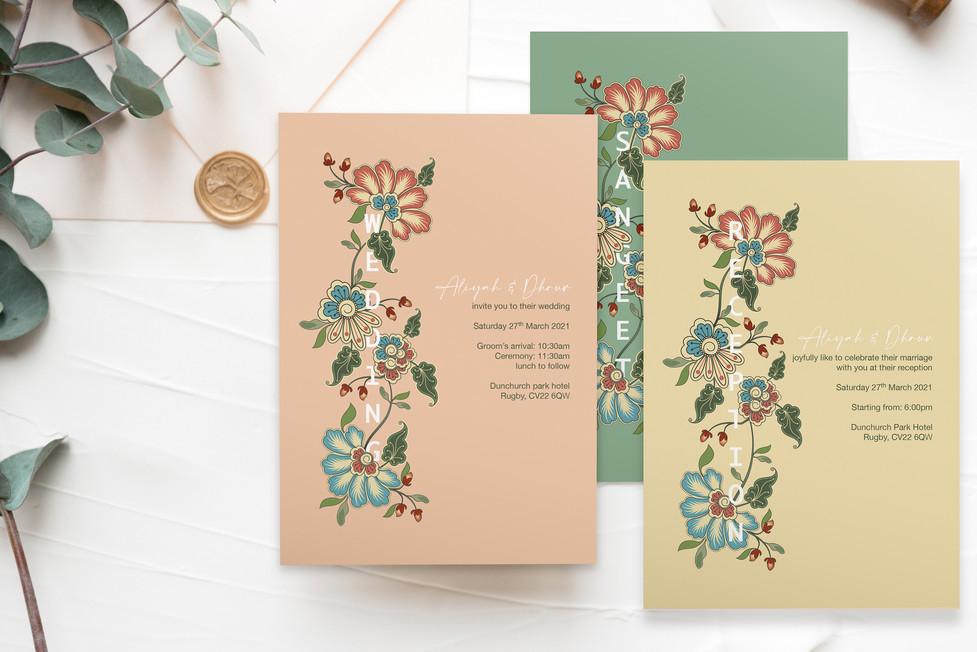 Floral Indian Wedding Invites