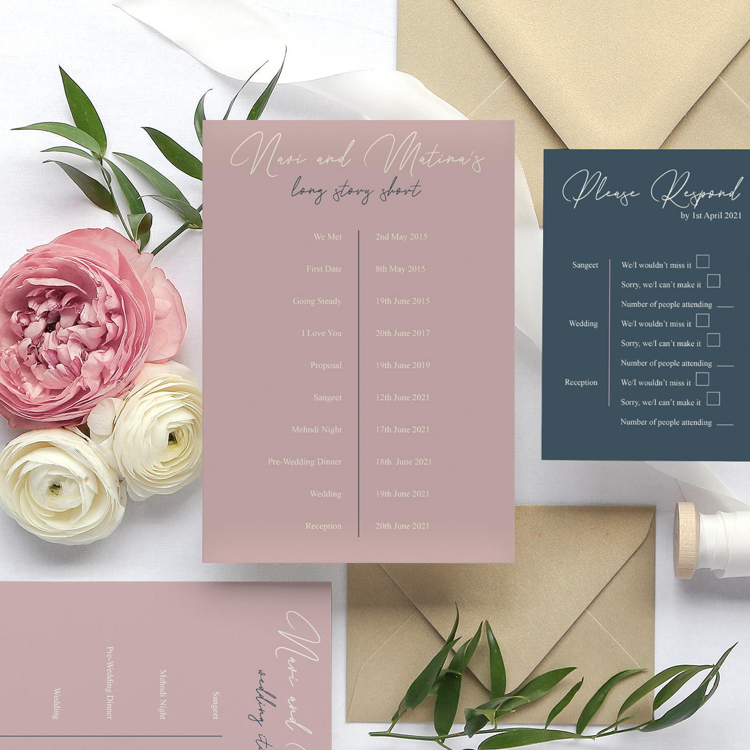 Simple Indian Wedding Invitations