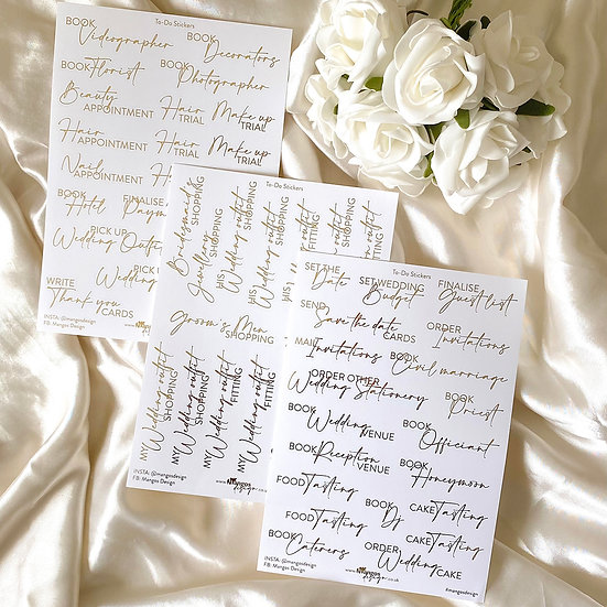 To-Do Wedding Sticker Sheets