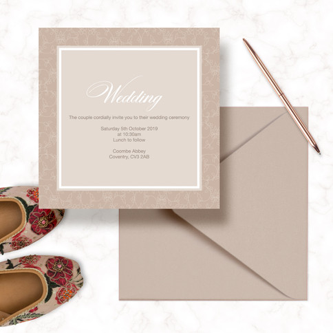 Square Wedding Invitations