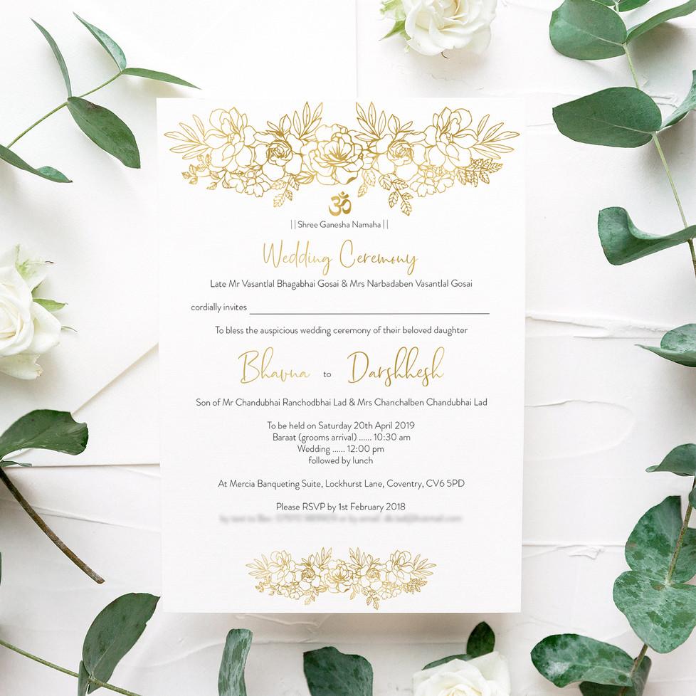 MangosSignature Wedding Invitation