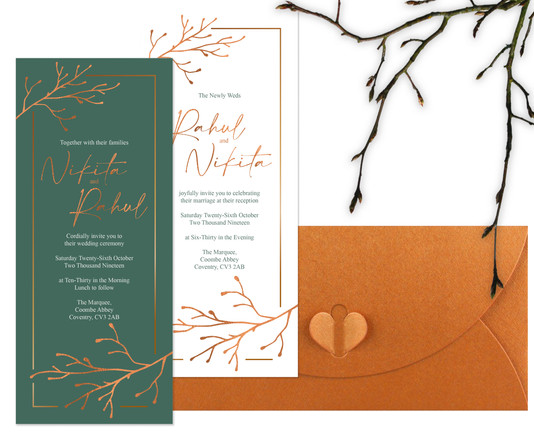 Autumn Shoot Indian Wedding Invitations