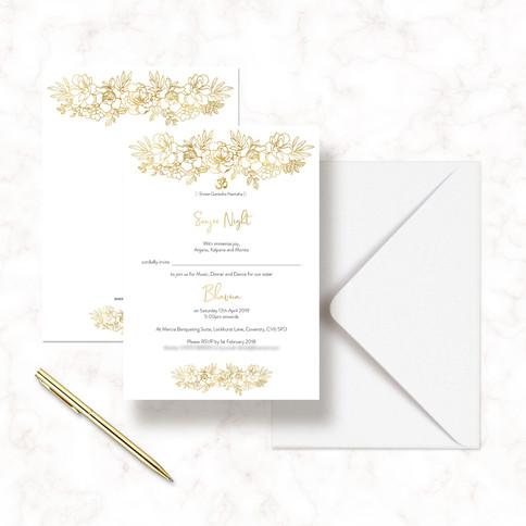 MangosSignature Indian Wedding Invitation
