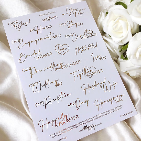 Wedding Sticker Sheet