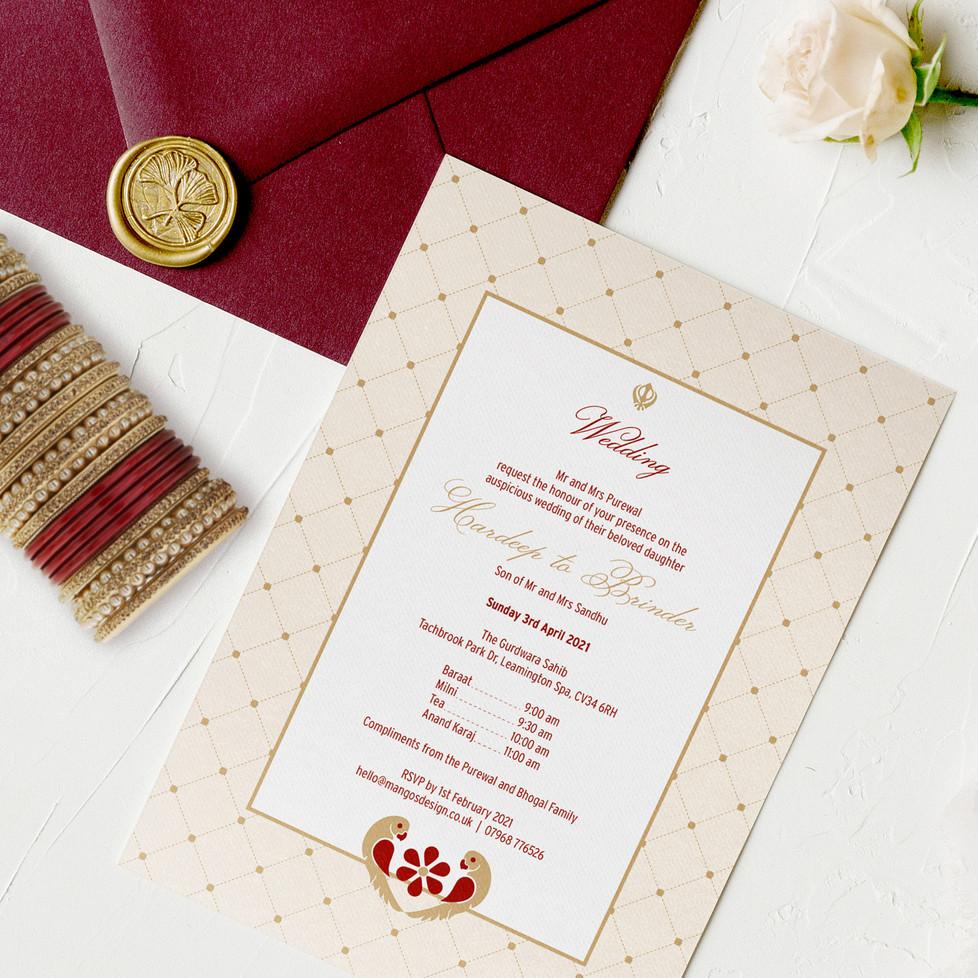 Traditional Indian Wedding Invitations