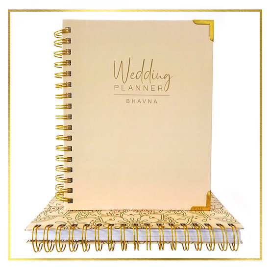 Personalised Indian Wedding Planner - Plain Cover