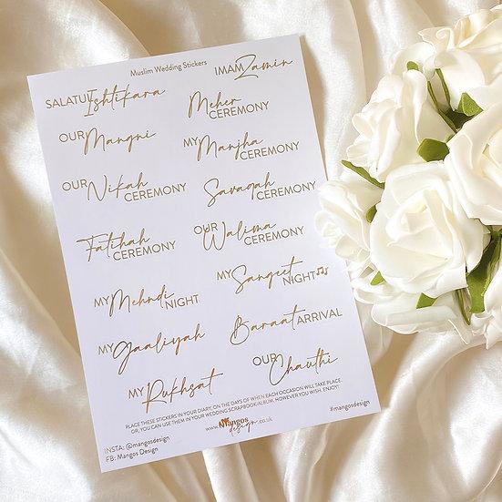 Muslim Wedding Sticker Sheet