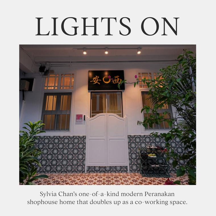 Lights On: Inside Sylvia Chan's Peranakan Home-Office Shophouse