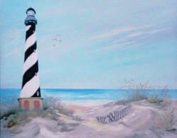 cape hatteras lighthouse oil 16x20