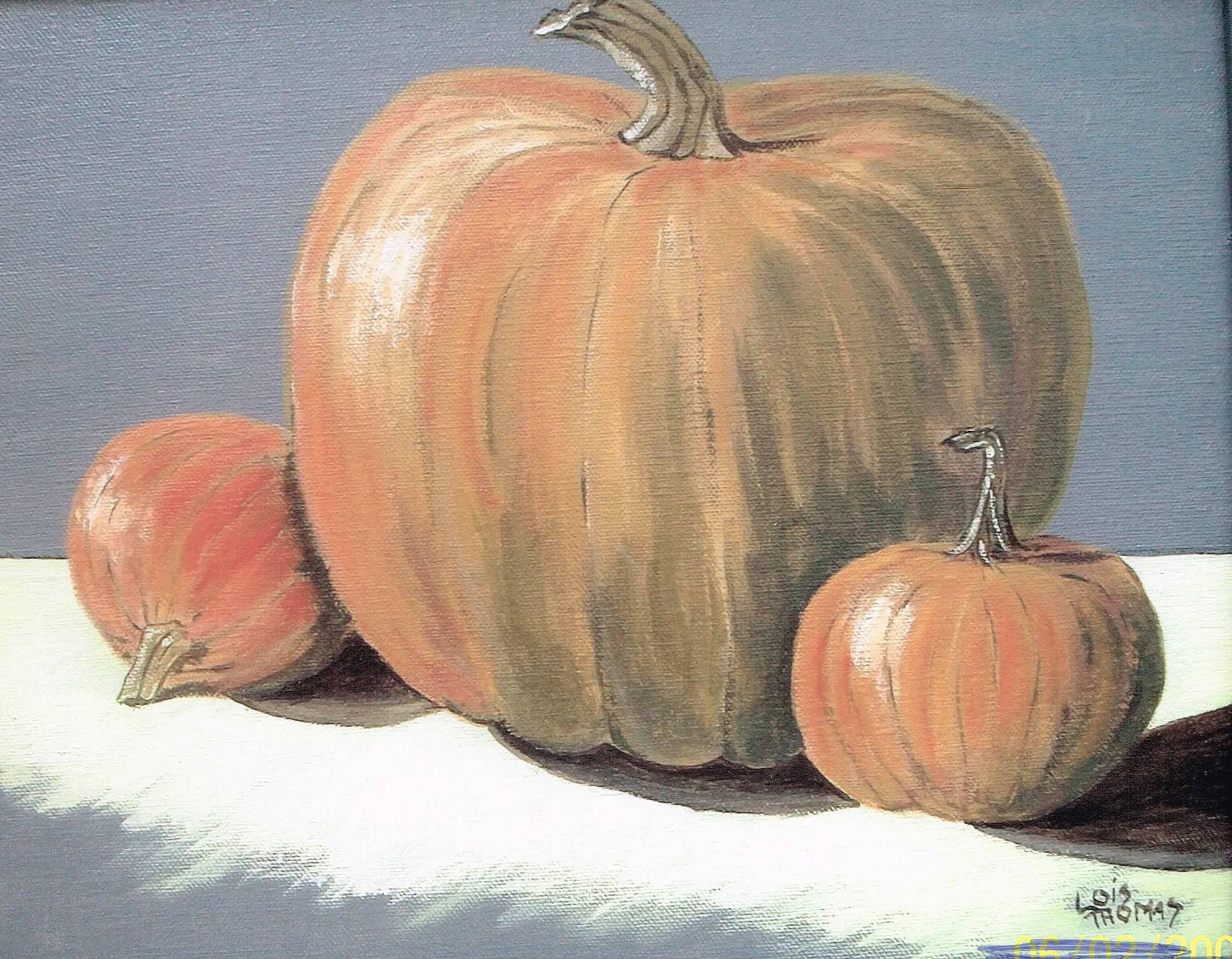 Pumpkins acrylic 11x14