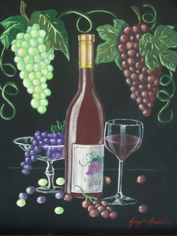 Grapes and wine
