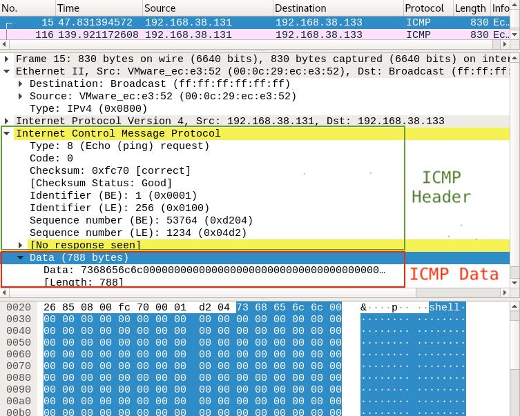Pingback Malware - Captura do pacote ICMP do invasor