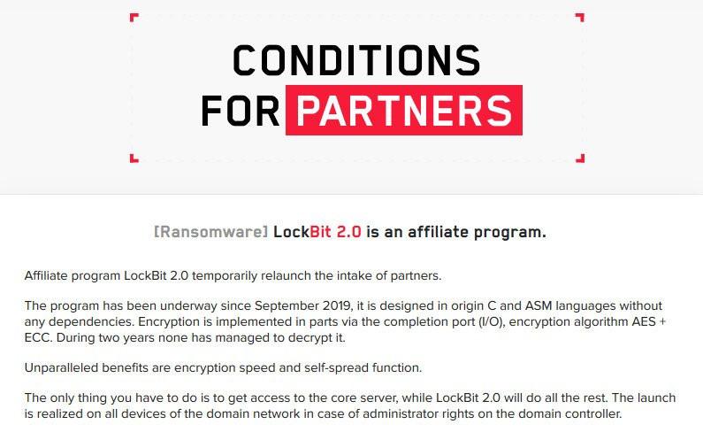 Site criado pelos desenvolvedores do LockBit - Fonte: BleepingComputer