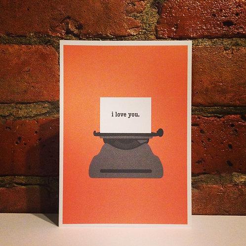 Typewriter Love You