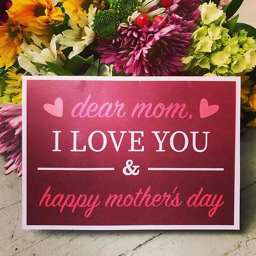 Dear Mom,