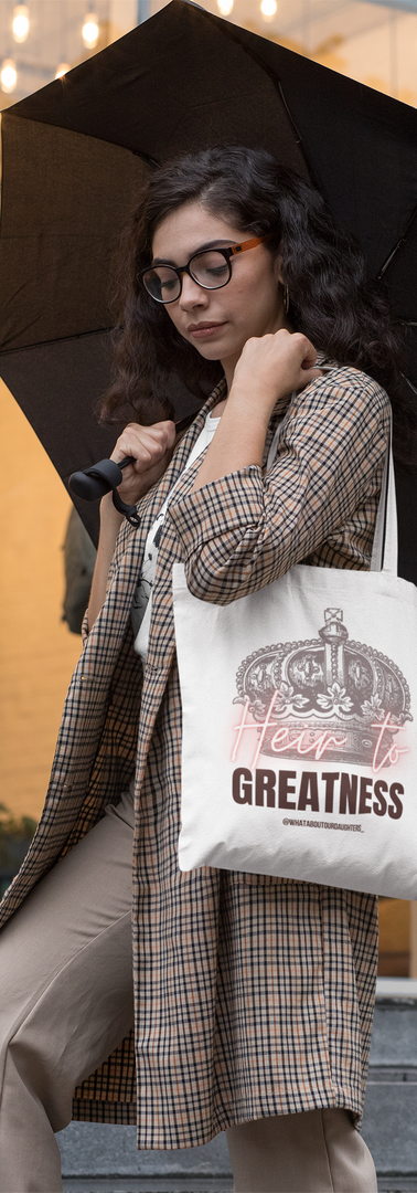 Heir to Greatness carrying-a-tote-
