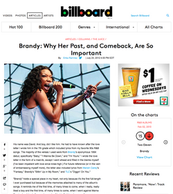 Billboard Magazine | Brandy
