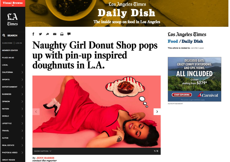 LA Times Naughty Girls Donut Shop