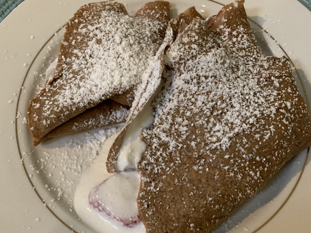 Low-carb Chocolate Crepes