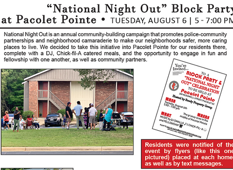 "National ""Night Out"" at Pacolet Pointe"