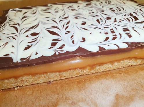 White Chocolate Marble Millionaire's Shortbread