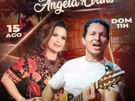 Show ao vivo dia 15 de agosto: Colimério Rodrigues e Ângela Evans