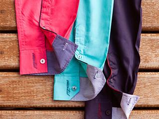É hora de usar camisas coloridas !