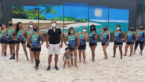 Izabella/Renata/Magda conquistam 2ª etapa do torneio vôlei de praia do Max Min Clube .