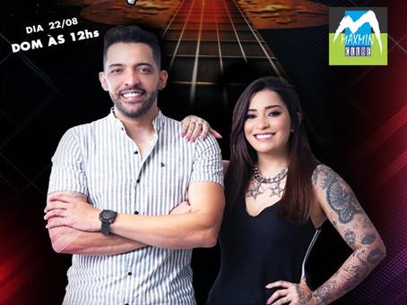 Kaio Marques e Nataly ao vivo domingo (22/08), 12h