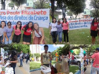 Mobilização na praça Cel.Ribeiro-Defesa dos direitos da criança e do adolescente.