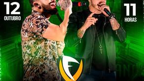 12 de outubro contará com apresentação da dupla Victor  e Fabiano